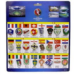Malas aleaciones online-2016 France European Cup Insignia de memoria Bad The Top 24 Teams Insignia High Craft Aleación de aluminio Handmade Badge Good Gift and Collecting