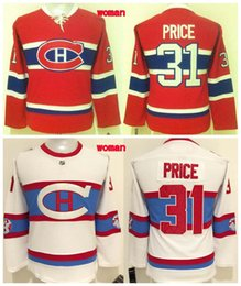 Wholesale Womens Winter Classic Jersey - Womens 2016 Winter Classic Montreal Canadiens Ice Hockey Jerseys Cheap 31 Carey Price Jersey White Red Ladies Authentic Stitched Jerseys