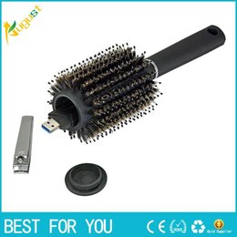 Wholesale home storage containers - Hair Brush Black Stash Safe Diversion Secret Security Hairbrush Hidden Valuables Hollow Container for Home Security Storage boxs