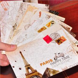 Wholesale Eiffel Towe - Wholesale-9 pcs lot vintage scenery eiffel towe greeting card vreative postcard birthday card christmas card gift