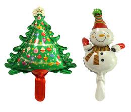 Wholesale christmas snowman inflatables - 50pcs lot mini Snowman Santa Claus Foil Balloons Merry Christmas Decorations Inflatable Xmas Air Balloons Event Party Supplies