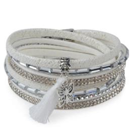 Wholesale Candy Charms For Bracelets - 13styles Candy Wide Crystal Leather Velvet Boho Bracelet Magnetic Buckle Bohemian Tassel Bracelet For Women Men Boho Jewelry