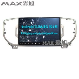 Wholesale Dvd Wifi - Android 6.0 car dvd player 3G 4G WIFI DAB+ BT SWC TPMS for Kia sportage 2016 2017 GPS free maps