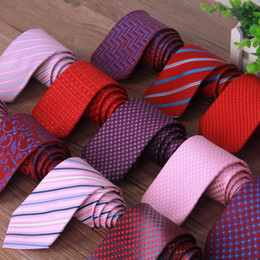 Wholesale Tied Models - 36 Models Fashion Business Suit Necktie Stripe Pattern Ties Wedding Groom Tie for Men Gift Drop Shipping