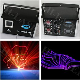 Wholesale Cheap Room Laser Lights - 2w cheap price RGB LED DMX Stage Light Lighting Laser Projector Party Show Disco with sd card