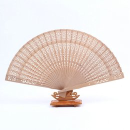 Wholesale Elegant Wooden - Free shipping,Wholesale 600pcs lot Elegant Folding Wooden Hand Fan Wedding Party Favors Best Gift 20cm