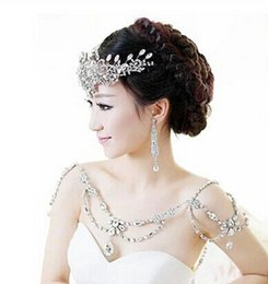 Wholesale Cheap Silver Rings Sale - Hot Sale Stunning Cheap Shoulder Chain Hot Sale Fashion Noble Crystal Bridal Necklace Temperament Beading Wedding Accessories