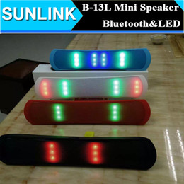 Wholesale Speaker B - LED Dancing Updated B-13 B13 Pill Pulse Bluetooth Wireless Mini Speaker Stereo Audio Sound Light FM Radio Player Box DHL Free