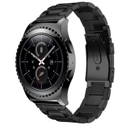 Wholesale Galaxy Band - Wholesale- 2017 WatchBands Black 22MM Replacement Stainless Steel Watch Band+ For Samsung Galaxy Gear S2 Classic SM-R732 Watch Band strap