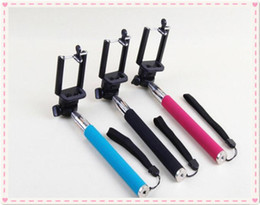 Wholesale Iphone 4s Tripod Mount - Self-timer Mobile phone Extendable Ski Pole Handle Telescopic Monopod With Tripod Mount For Camera iphone 6 4 4S 5 5S 5C Galaxy S5 S4 MQ50