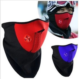 Wholesale Cheap Bicycle Caps - Wholesale-New Cheap Neoprene Neck Warm Half Face Windproof Mask Winter Veil For Sport Bike Bicycle Cycling mask Ski Snow Skiing caps hat 1