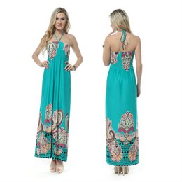 Wholesale Lady Bohemian Sun Dresses - Wholesale-Free Shipping New Hot Women Sun Maxi Long Dress Best beach wear Ladies tops Fashion Bohemian only size M L XL XXLXXXL D008-D012
