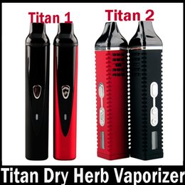 Wholesale Ecigarette Lcd - Herb Titan 1 Titan 2 Kit Dry Herb Vaporizer Pen ecigarette herbal vaporizers Vaporizer Titan 2200mah Temperature Control Systerm LCD Dispaly