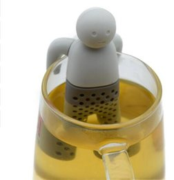 Wholesale House Filters - Man Tea Infuser Silicone Rubber Leaf Strainer Infuser Filter Tea House Gadget Kitchen Tools Tea Strainer KKA3188