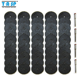 Wholesale Cutting Parts - Free Shipping 50pc Fiberglass Reinforced Abrasive Cutting Disc Cut Off Wheel with 4 Mandrels Fit Dremel Rotary Tool Accessories