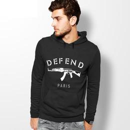 Wholesale Giv Hoodie - Wholesale-Autumn winter new 2016 GIV DEFEND PARIS AK47 Automatic rifles print pullover Hip hop 3D sports men hoodies sweatshirt sportswear
