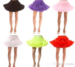 Wholesale Tulle Crinoline Short - Tutu Petticoat No Hoop layers Tulle Wedding Ball Gown Short Mini Gown Underskirt Crinoline For Cocktail Prom Party Homecoming Dresses CPA296