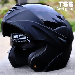Wholesale Visor Motorcycle - wholesale New Arrival Safe Flip Up Racing moto helmet Modular Motorcycle Helmet Dual lens Everybody Affordable S M L XL Transparent visor
