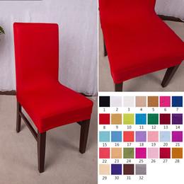 Cadeiras de escritório on-line-Cadeira do escritório Cobre Cores Sólidas Tampa de Assento Da Força Elástica Para Decorações Do Partido Do Casamento Artigos Multicolor Opcional 6 5sx C RW