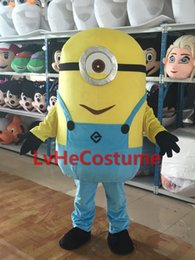 Wholesale Despicable Minions Costumes - Monocular Minions Despicable Me mascot costume free shipping Hot Sale dress carnival,2015 New Professional custom-made
