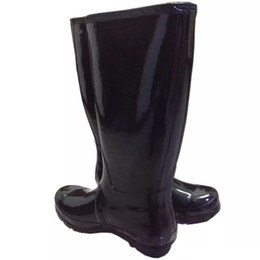Wholesale Blue Tall Boots - DHL drop Ship Women RAINBOOTS fashion Knee-high tall rain boots waterproof welly boots Rubber rainboots water shoes rainshoes 11 colors