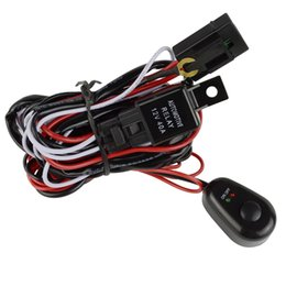 Wholesale 12v Relay Led - LED Light Bar Relay Wiring Harness Controller Cable Fuse For Car Motor Work Lamps Waterproof 12V 40 Amp 20AWG