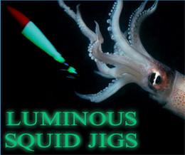 Wholesale Plastic Squid Lures - Seawood Luminous Squid Jigs Crankbait fishing hooks lure 10.5cm 6.3g plastic Prawn hard Bait 5colors