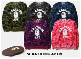 Wholesale T Shirt Sweater Dress - 2017 new winter men's cashmere sweater with tide brand camouflage printed T-shirts and loose couples dress