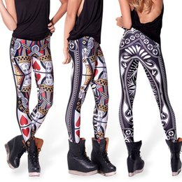 Wholesale Queen Hearts Leggings - NEW ARRIVED 2015 summer fashion women leggings 3D digital the queen of hearts sports legging for women plus size free shipping