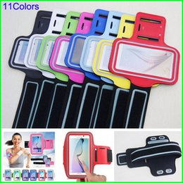 Wholesale Iphone 4s Running - Reflective Waterproof Running Sports Armband Gym Arm band Soft Belt Pouch case for Samsung Galaxy S6 Edge S5 S4 iphone 6 5s 4s HTC M7 M8 M9