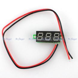 "Wholesale Led Digital Voltage Panel Meter - Wholesale-20PCS LOT New 0.28"" Super Mini Digital LED Display Car Voltmeter Yellow Voltage Volt Panel Meter DC 3.5-30V B0006-20"