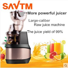 Wholesale Stainless Steel Juice Extractor - SAVTM Domestic-large-caliber Raw juice machine , slow juice machine making baby food supplement, automatic juicer Free shipping!
