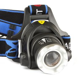 Wholesale Headlamp Cree Aa - 2015 CREE XM-L T6 2000 Lumens 3 Modes Zoom LED Headlight Zoomable Adjust Focus Waterproof Head Lamp Spotlight For Hunting AA