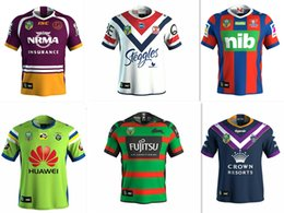Wholesale Marvel White - 2018 NRL JERSEYS BRISBANE BRONCOS 2017-2018 Marvel iron man jersey Rugby Jerseys shirt S-3XL Free shipping rugby shirts size S - 3XL