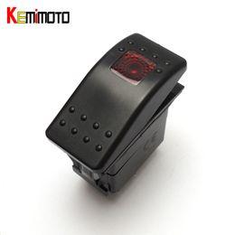 Wholesale 12v Rocker - Wholesale- KEMiMOTO Red 12V Light Rocker Switch for Polaris RZR XP900 800 Maverick Commander 14 15 Universal for Yamaha