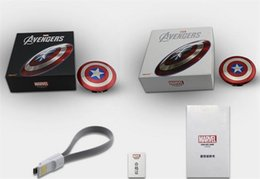 Wholesale America Pack - Power Bank 6800mAh Captain America Power bank Dual USB charger for smart mobile phone 6800mah Universal Portable pack free DHL