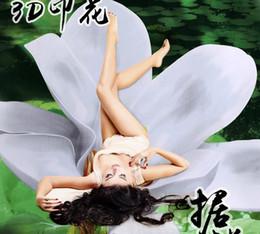 Wholesale Romantic Bedlinen - Wholesale-2015 new 3D Morning Blossom Big flower 100% cotton 4pcs bedclothes Romantic 3d comforter duvet cover bedlinen bedding set B3034