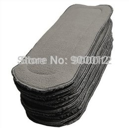 Wholesale Charcoal Material - 2014 hot sale 10pcs Bamboo Charcoal Liner Inserts For Baby Diaper 100% Natural Bamboo Material washable Cloth diaper 5 layerszz1