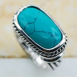 Wholesale turquoise jewelry rings sterling silver - Turquoise 925 Sterling Silver Top Quality Fancy Jewelry wedding Ring Size 6 7 8 9 10 11 F1201