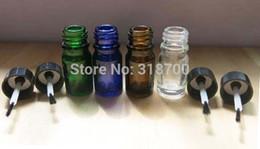 Wholesale Empty Nail Polish Bottle 5ml - DHL)Free Free Shipping- 200pcs lot 5ml Empty Nail polish Bottle,5cc Blue,green,clear,amber nail polish bottle