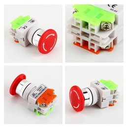 Wholesale Stop Switches - 1Pc NC N C Emergency Stop Switch Push Button Mushroom Push Button 4Screw Terminal Brand New