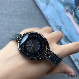 Wholesale Fashion Watches Chains - Swarovski New Fashion Style Women Watch Full diamond Lady Steel Chain wristWatch Luxury Quartz clock High Quality leisure fashion designer
