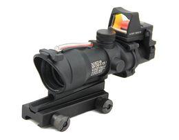 Wholesale Acog 4x32 Rmr - ACOG 4X32 Rifle Scope with RMR Micro Red Dot Black(R)
