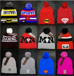 Wholesale Wholesale Pink Dolphin Beanies - Wholesale Hot Pink Dolphin hats Hiphop Beanies cheap Pom Beanie hats Wool Cap Autumn Winter caps Sprot men hat Woolen Hat diamond skull caps
