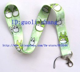 Wholesale Totoro Cell Phone Wholesale - Wholesale-Free shipping 10pcs Totoro Neck Lanyard for MP3 4 cell phone DS lite