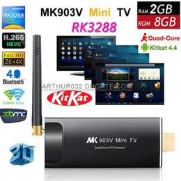 Wholesale Dongle Hdmi Smart Tv - MK903V RK3288 Android 4.4 TV Box Dongle Stick Quad Core 1.8GHz 2G 8G XBMC HDMI 4K*2K H.265 2.4GHz 5GHz Dual WiFi OTG USB Smart HDD Player