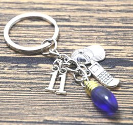 Wholesale Inspire Man - 12pcs Friends Don't Lie Inspired Stranger Things charm Keychain silver tone keyring