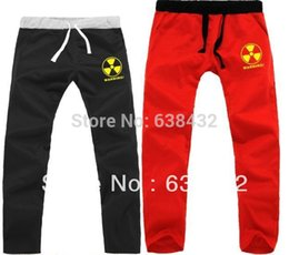 Wholesale radiation clothes - Wholesale-Free shipping chinese size S--3XL hip hop clothing nuclear radiation warning printed sweatpants trousers casual pants 7 color