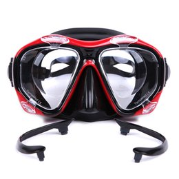 Wholesale adult diving mask - Diving Mask Scuba Glasses Goggles Silicone Mask Underwater Snorkeling Set Swimming Mask Goggles For Adults