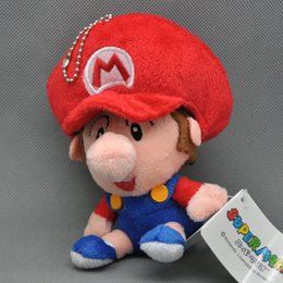 "Wholesale Super Mario Bros Plush Characters - Free Shipping 1PCS Cute Super Mario Bros. MARIO Baby Character Plush Doll 5"" Good Gifts For Childrens"